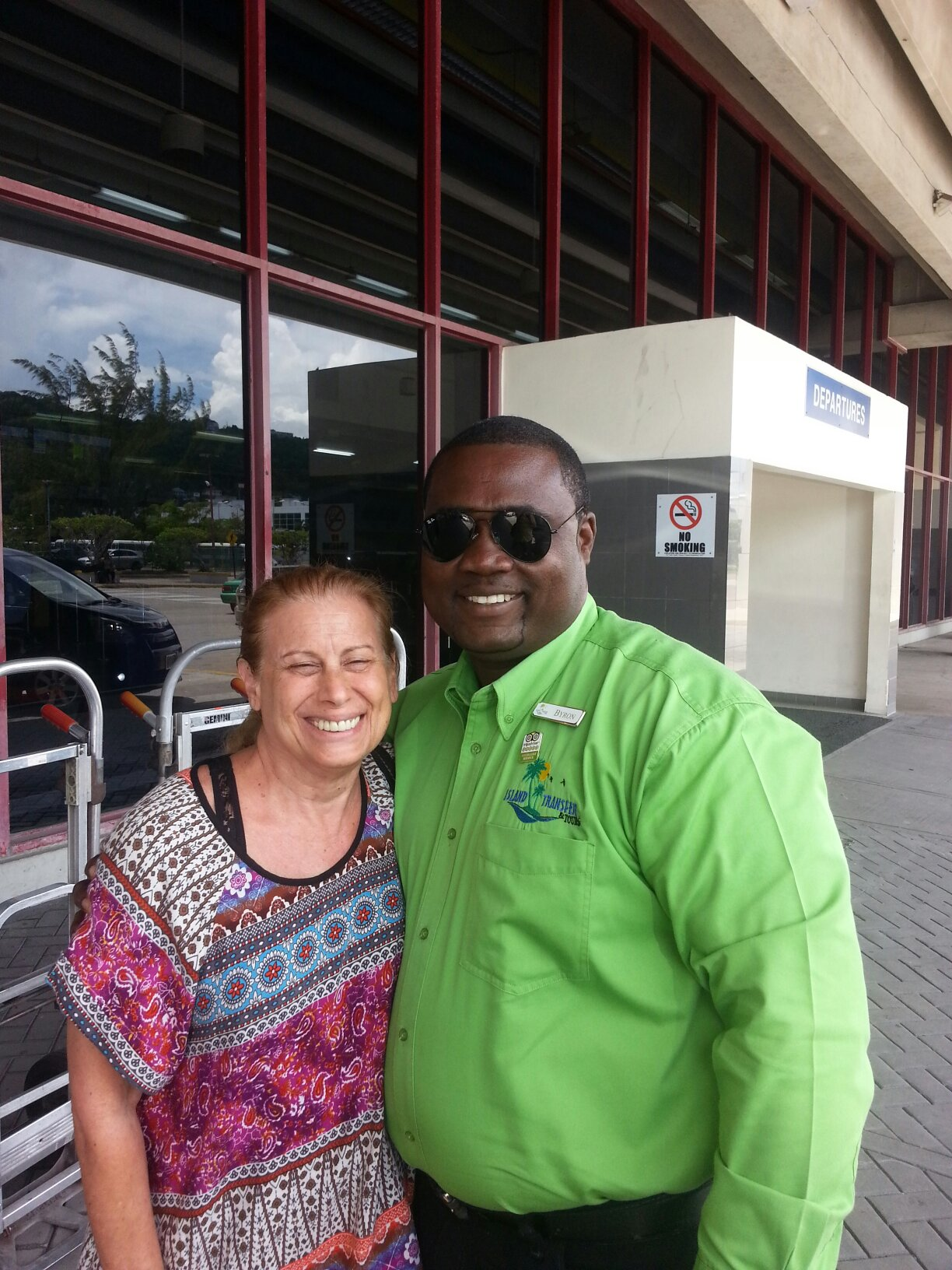 Welcome guest at Sangster International Montego Bay